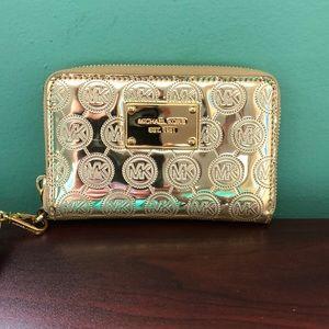 322b033c1ad3 Michael Kors. Michael Kors Metallic Mirror Wristlet Wallet